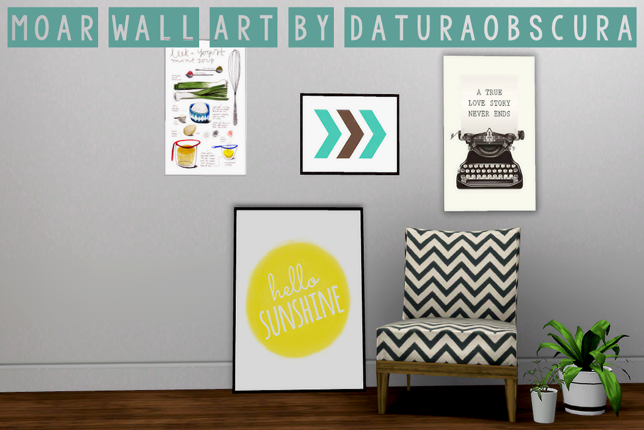 My Sims 3 Blog More Wall Art By Daturaobscura