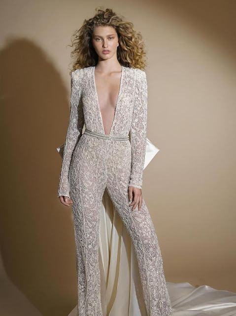 K'Mich Weddings - wedding planning - jumpsuit with bow - g-109 - galia-lahav-fall-2019