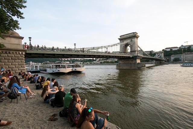 Vista sul ponte delle catene-Budapest