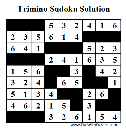 Trimino Sudoku (Daily Sudoku League #43) Solution