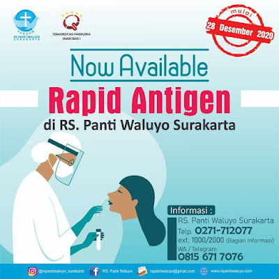 tarif rapid test antigen panti waluyo solo
