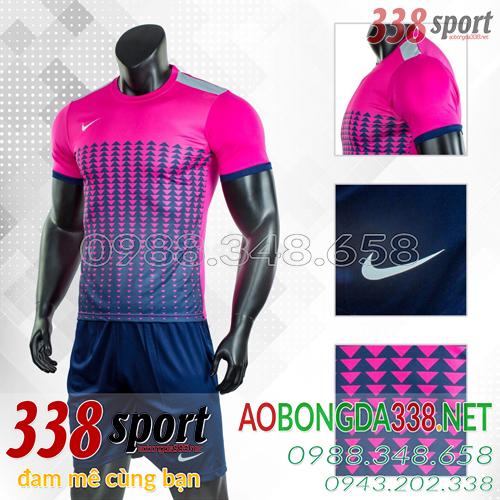Áo Bóng Đá Không Logo Đẹp Nike Aro Hồng
