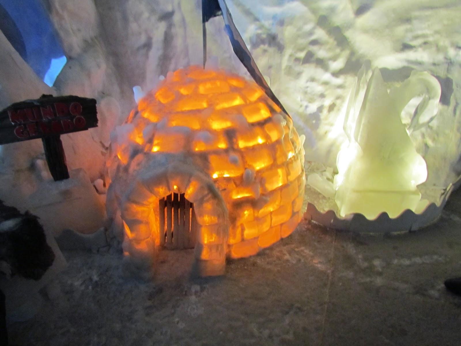 Iglu no Parque Mundo gelado