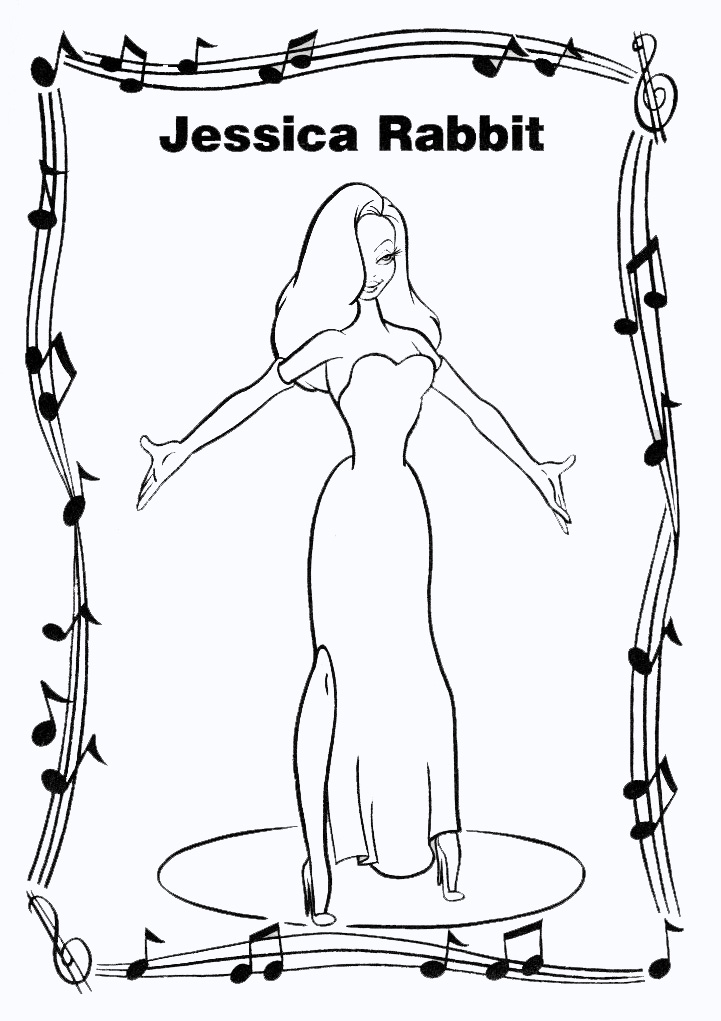 roger rabbit coloring pages - photo#17