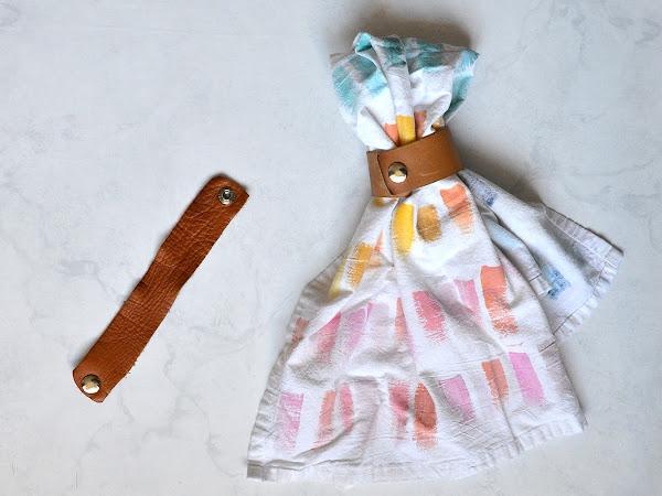 Leather Towel Holder for Kitchen or Bathroom