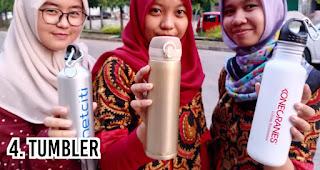 Tumbler merupakan merchandise promosi yang ramah lingkungan