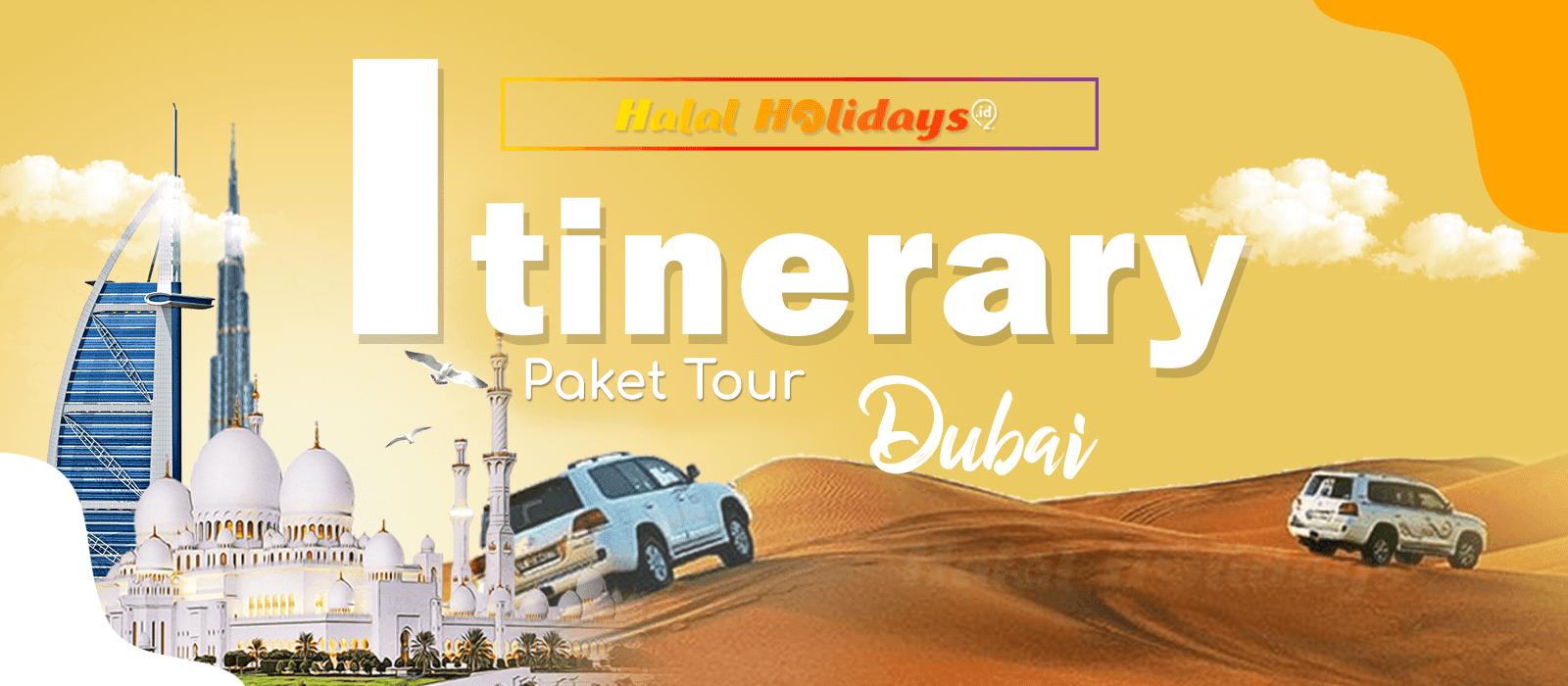 Itinerary Paket Tour Halal Dubai Abu Dhabi 5 Hari