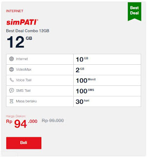 Paket Simpati Best Deal Combo 12GB