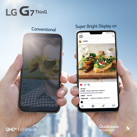 LG G7 ThinQ Philippines Super Bright Display