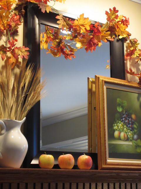 Autumn on the Mantel with Apples