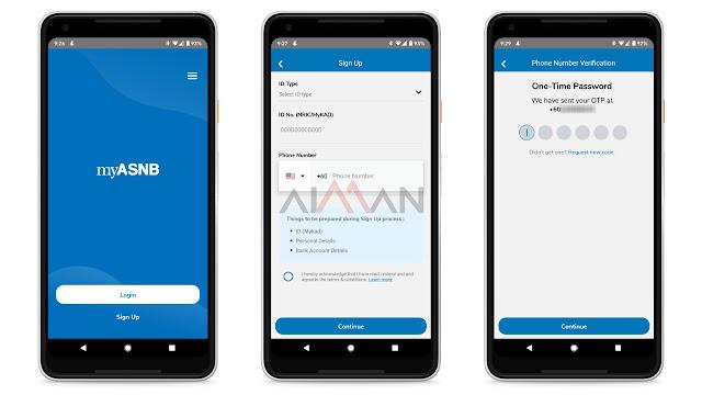 cara buka akaun ASB secara online menggunakan aplikasi myasnb tahun 2021