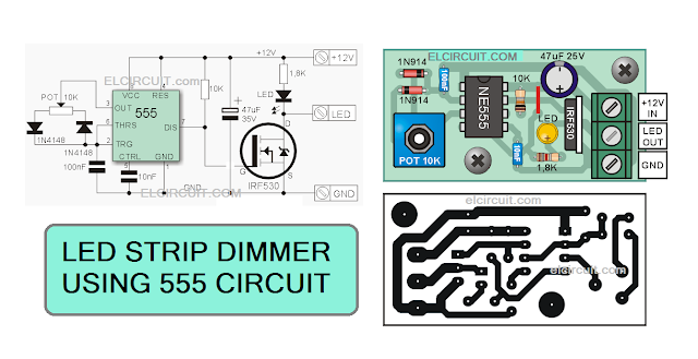 Circuit diagram dimmer high power LED strips