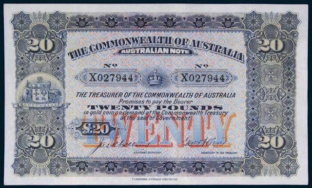 Australian 20 Pound note 1913