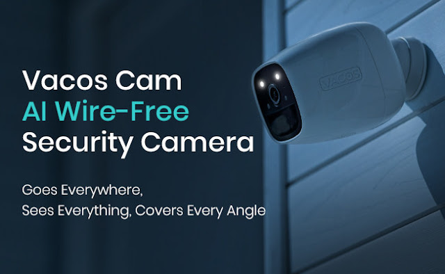 Vacos Cam AI Battery-Powered Security Camera Debuts in Smart Home Market