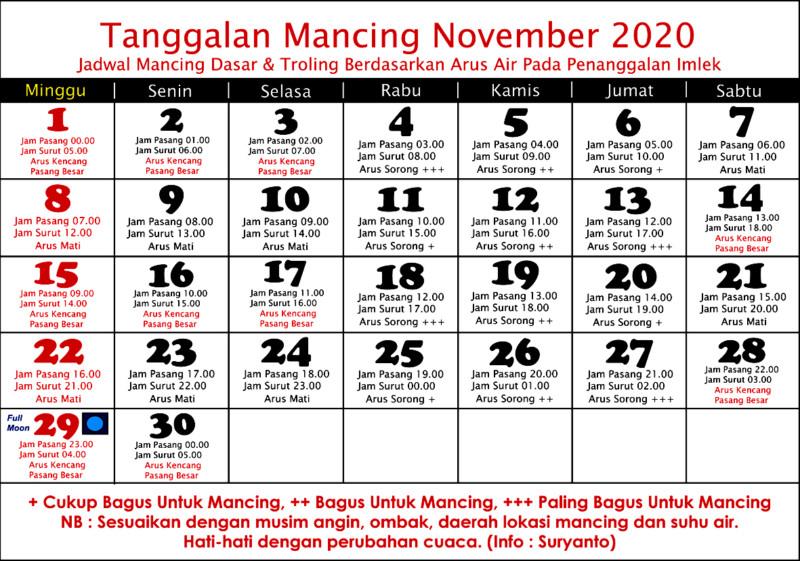 KALENDER MANCING NOVEMBER 2020