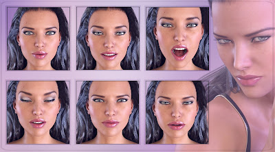 Z My Emotions - Morph Dial Expressions for the Genesis 3 Female