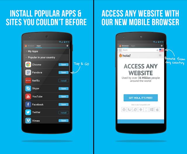 HOLA免費VPN App