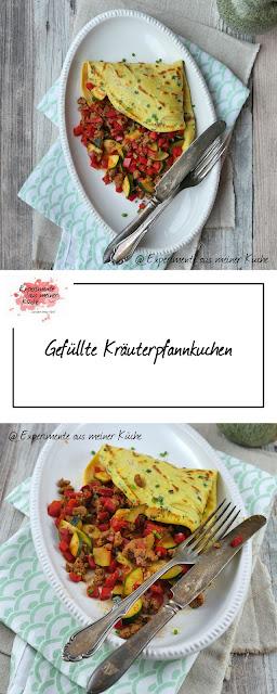 Gefüllte Kräuterpfannkuchen #meinkleinergarten | Rezept | Kochen