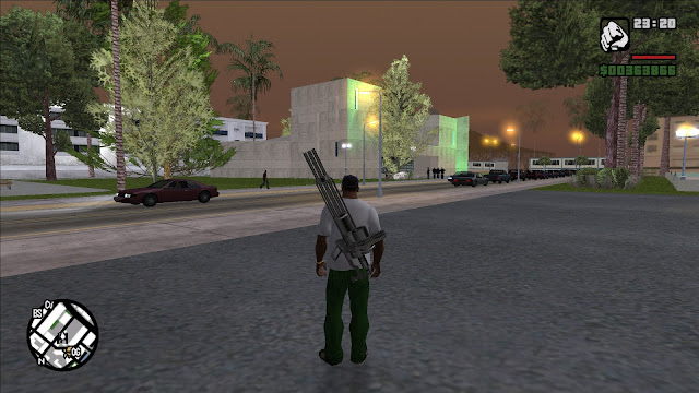 GTA San Andreas Put Weapon On Your Body V1.2 Latest Version