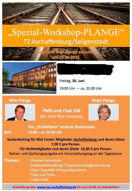 Wim und Birgit Plange am Freitag Workshop in Seligenstadt