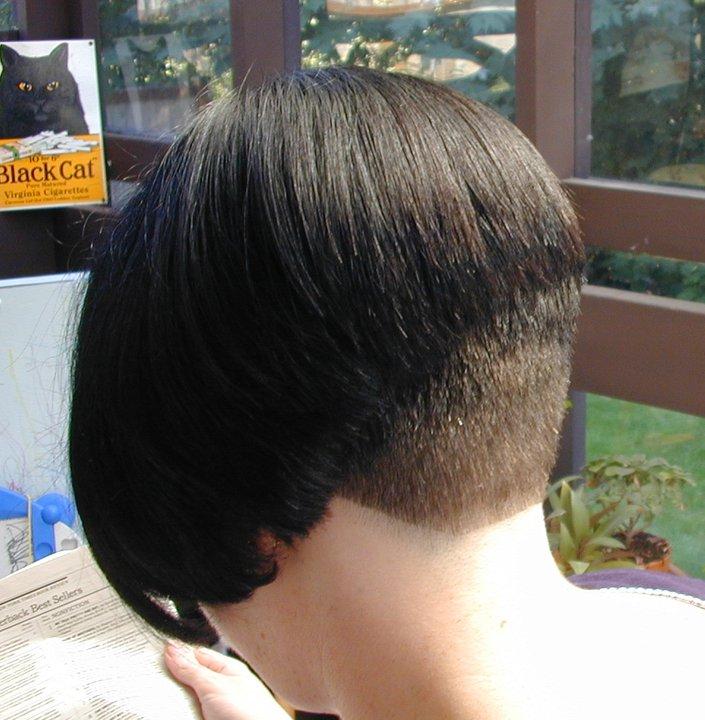 Short Bob Haircut Clippered Nape Short Hairstyle 2013