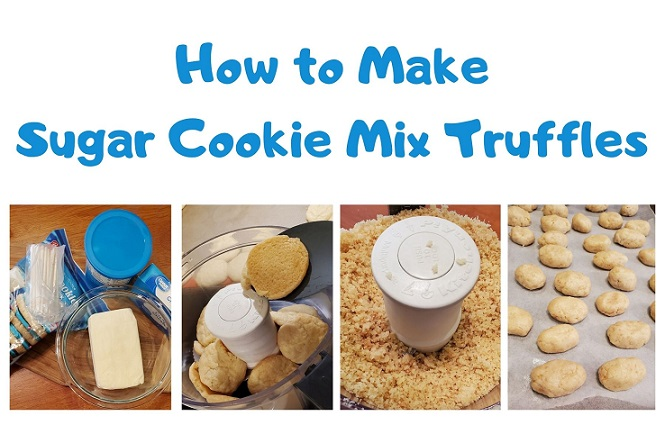 these are step by step instructions on how to make sugar cookie truffles