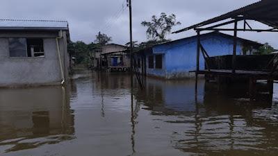 Desbordamiento del Río Misará, causa inundaciones en 7 comunidades Afros e Indígenas del municipio de Medio Baudó.