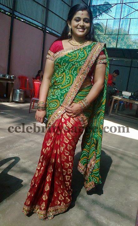 Navya Nair Bandhini Saree Saree Blouse Patterns