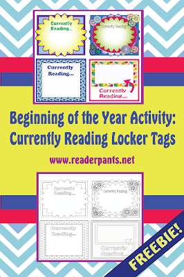 Great for the first week of middle school! Currently Reading Locker Tags--free download...