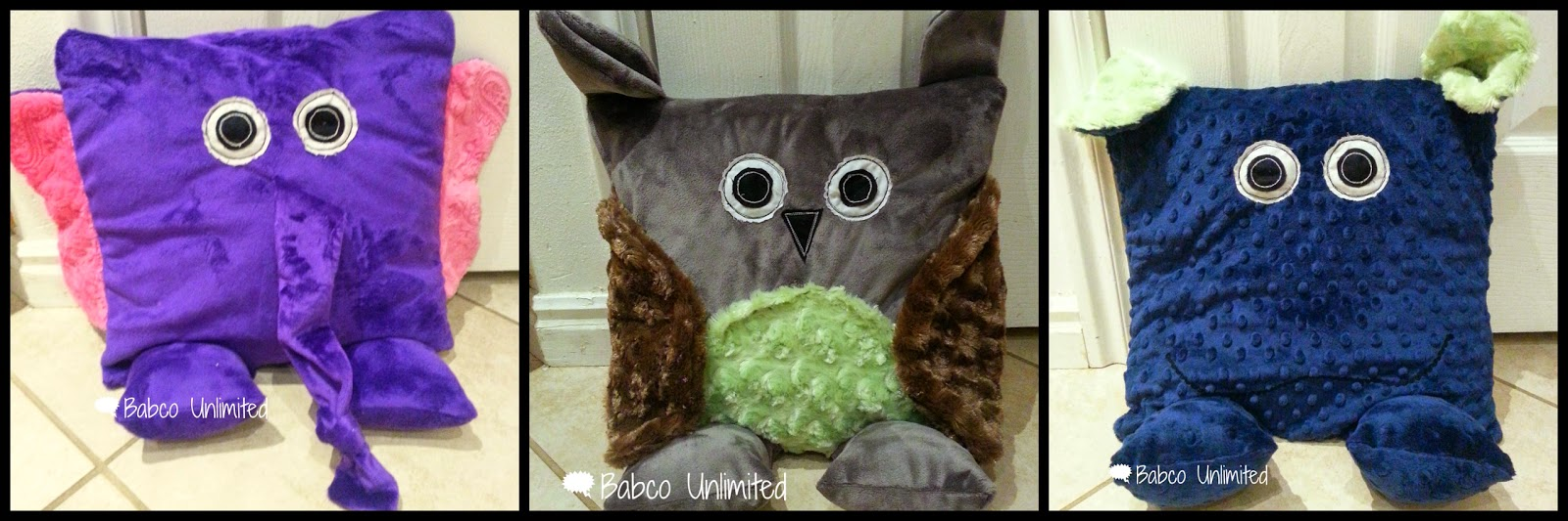 BabcoUnlimited.blogspot.com - Animal Pillow Pets