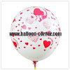 Balon Latex Full Printing Hati / Love