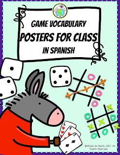 Games Vocabulary Posters in Spanish