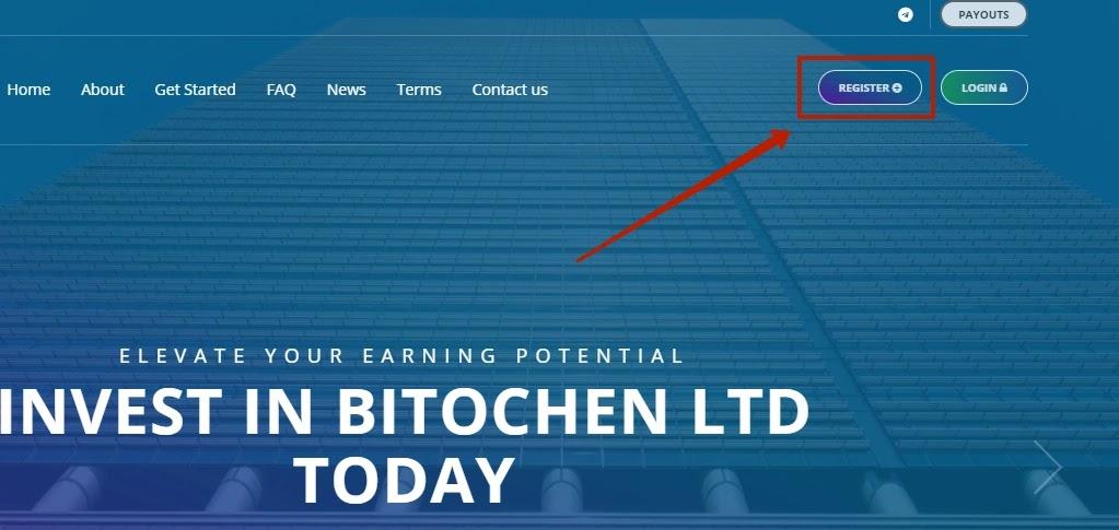 Регистрация в Bitochen