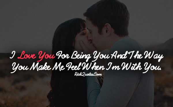 Love Quotes | The Way You Make Me Feel Couple Love Kiss hug Romantic