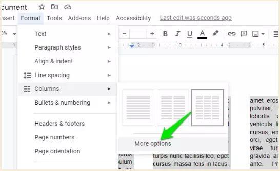 Cara Membuat Tulisan Kolom Koran di Google Documents-3