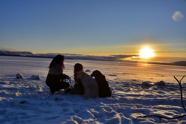 solnedgang vinter is