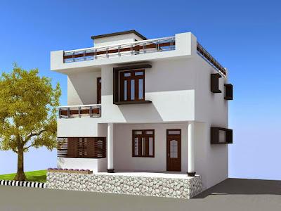 Gambar Desain Rumah Minimalis 2 Lantai Atap Datar