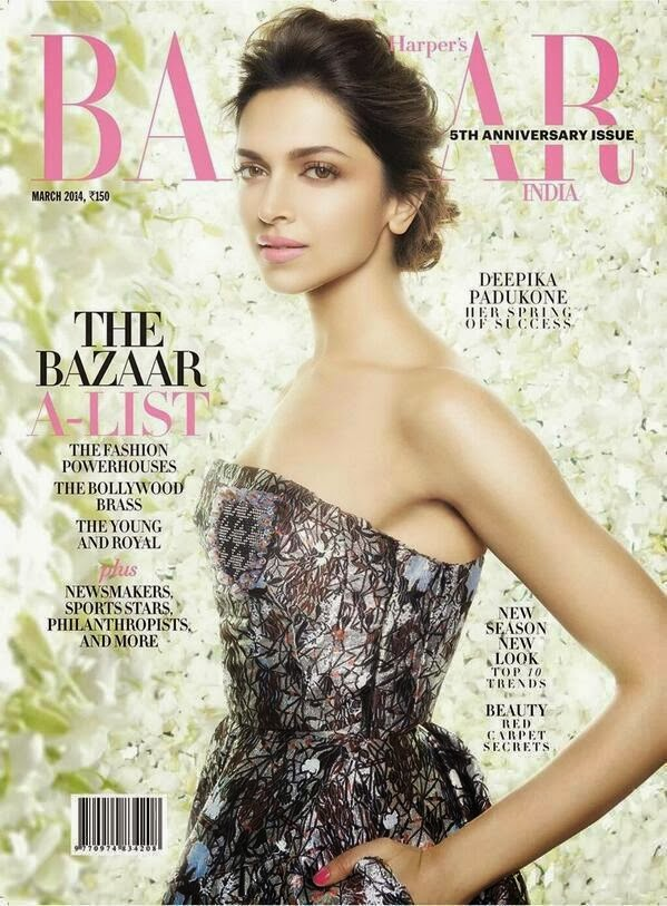 Deepika Padukone covers Harper's Bazaar's 5th anniversary issue