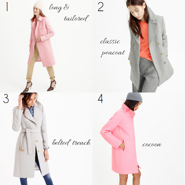 J. Crew winter wool coats