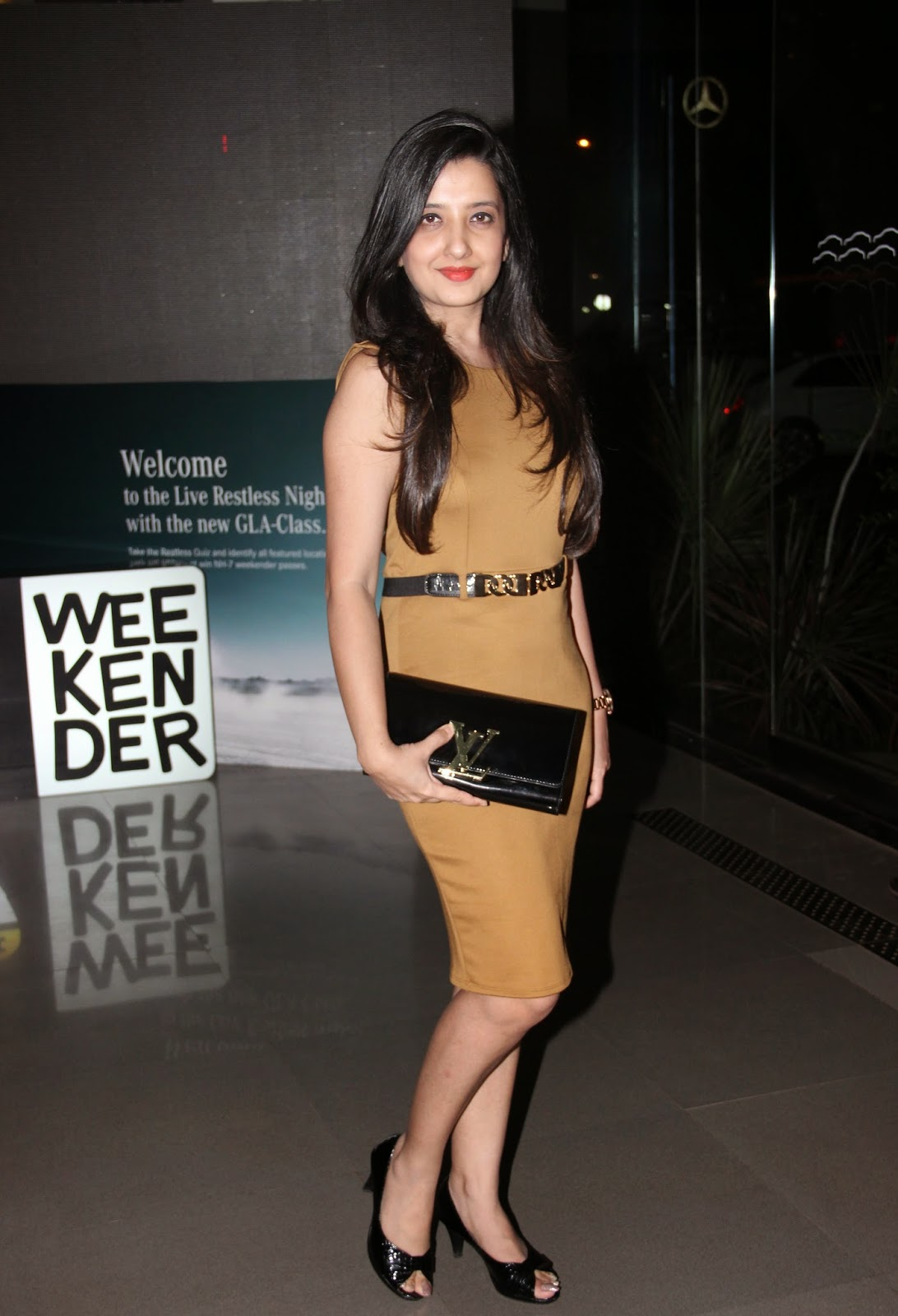 Amy Billimoria at the Mercedes Benz GLA-Class Preview Event