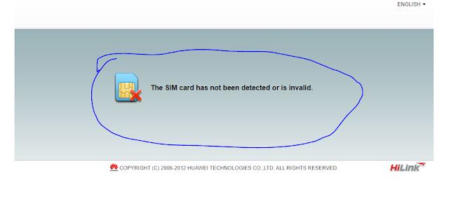 Sim card modem tidak terbaca