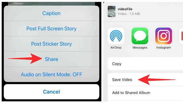 Download Instagram reels video on iPhone