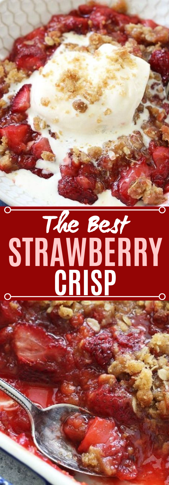 Fresh Strawberry Crisp #desserts #recipes