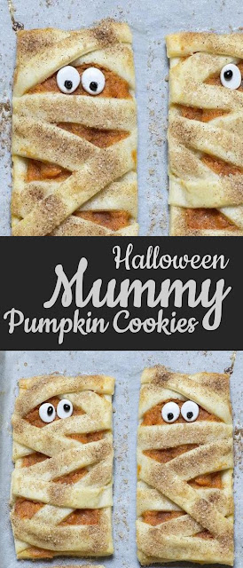 Mummy Pumpkin Cookies #Halloween #Cookies #Pumpkin