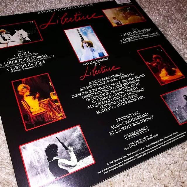 Mylène Farmer - rééditions vinyles 2018 libertine bande originale du clip
