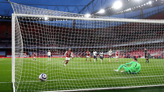 Lacazette sent Hugo Lloris the wrong way to hand Arsenal the win over Tottenham