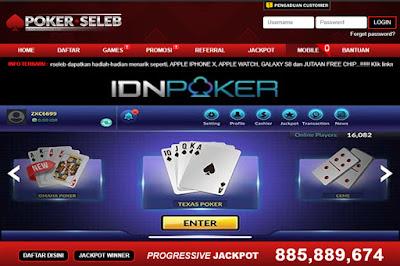 PokerSeleb merupakan Situs IDN Poker Online Terpercaya dengan Uang Asli 2019 yang menyediakan DominoQQ Capsa Susun Ceme Online + Bonus Deposit Pasti Terbesar. situs poker online, situs poker terpercaya, idn poker, poker online, poker uang asli.
