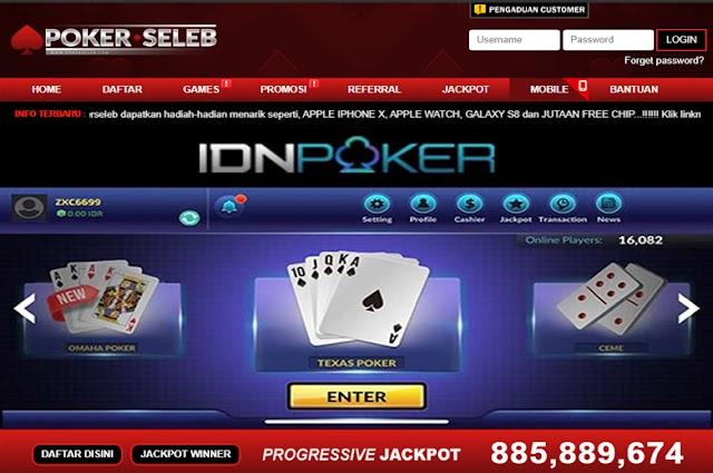 POKERSELEB.com | Situs Poker Online Deposit Pulsa Terpercaya dan IDN Poker Uang Asli