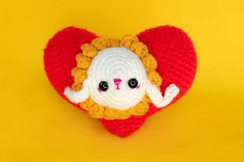 Patrón de San Valentín Corazón amigurumi