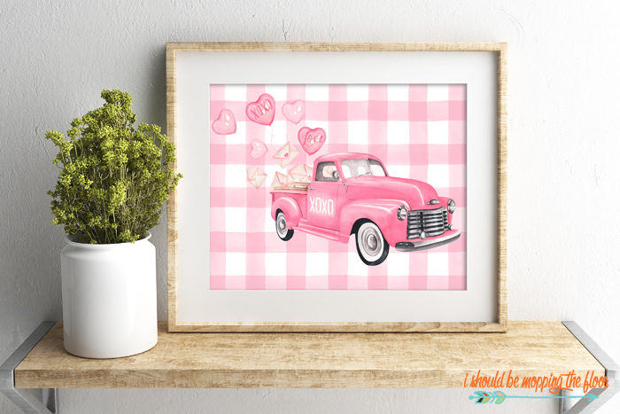 Truck with Hearts Printable